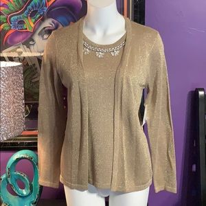 5/$25 Coral Bay small sweater with beaded accent.